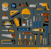 Buildings tools icons set. Royalty Free Stock Image