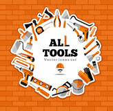 Buildings tools icons set. Royalty Free Stock Photo