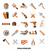 Buildings tools icons set. Royalty Free Stock Images