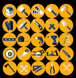Buildings tools icons set. Stock Image