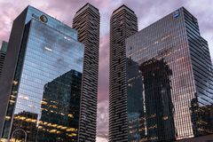 Buildings in Toronto. 2017 - Glass buildings in Toronto, Canada royalty free stock photography