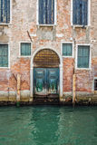 Buildings with traditional Venetian windows in Venice, Italy Royalty Free Stock Images