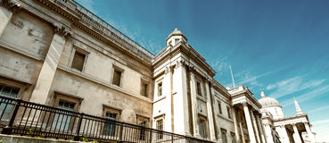 Buildings of Trafalgar Square, London Royalty Free Stock Image