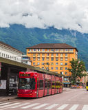 Buildings and Trams in Innsbruck Royalty Free Stock Photos