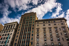 Buildings on Tremont Street in Boston, Massachusetts. Stock Photography