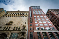 Buildings on Tremont Street, in Boston, Massachusetts. Royalty Free Stock Photos