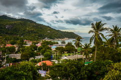 Buildings of tropical resort Stock Images