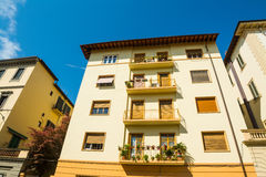 Buildings under a blue sky in Tuscany. Italy Royalty Free Stock Images