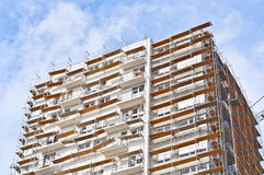 Buildings under construction. Building under construction with girder Stock Images