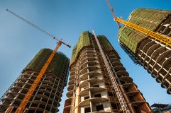Buildings under construction Stock Image