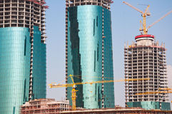 Buildings under construction in Bahrain. Royalty Free Stock Photos