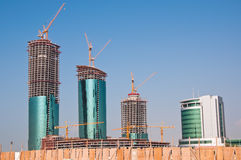 Buildings under construction in Bahrain. Royalty Free Stock Photography
