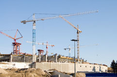 Buildings under construction Stock Images