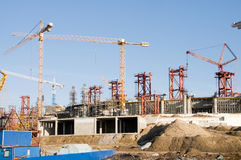 Buildings under construction Stock Photography