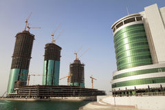 Buildings Under Construction, Manama, Bahrain Stock Photos