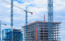 Buildings under construction . Royalty Free Stock Photography