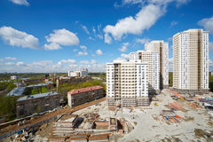 Buildings under construction of residential compound Royalty Free Stock Images