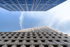 Buildings under the sky. Berlin (Germany royalty free stock photography