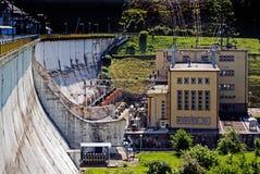 Buildings underneath the dam Stock Image