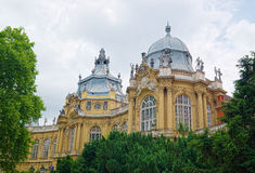 Buildings of the Vajdahunyad Castle in Budapest, Hungary Royalty Free Stock Photos