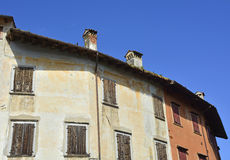 Buildings in Valvasone Royalty Free Stock Photography