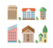 Buildings. Vector 3d houses Royalty Free Stock Images