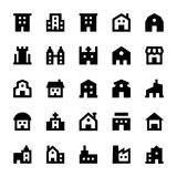 Buildings Vector Icons 1 Stock Photo