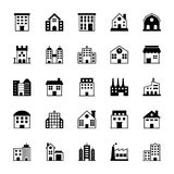 Buildings Vector Icons 1 Royalty Free Stock Photo