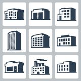 Buildings vector icons, isometric style #2 Stock Photos