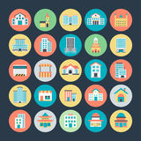 Buildings Vector Icons 2. You will be able to use these Building Vector Icons for a huge variety of works with the different types of architecture from centuries Stock Photos