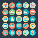 Buildings Vector Icons 3. You will be able to use these Building Vector Icons for a huge variety of works with the different types of architecture from centuries Stock Images