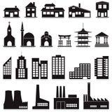 Buildings. Vector set of various buildings Stock Images