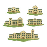 Buildings. Vector set stock illustration