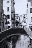 Small Bridge in Venice, Italy royalty free stock photos