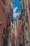 Buildings of Vernazza, Cinque Terre, Italy royalty free stock photos