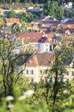 Buildings view of Brasov Romania stock image