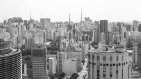Buildings view of central Sao Paulo Brazil royalty free stock photos