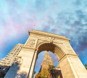 Buildings of Washington Square, Manhattan.  Royalty Free Stock Photo