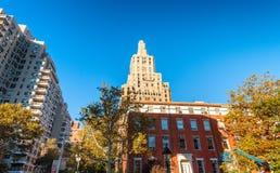 Buildings of Washington Square, Manhattan.  Royalty Free Stock Photos