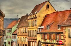 Buildings in Wasselonne - Alsace, France Stock Image