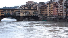 Buildings and water on Ponte Vecchio Royalty Free Stock Photos