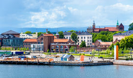 Buildings at the waterfront in Oslo Stock Photos