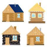 Buildings on white background Royalty Free Stock Photography