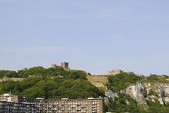 Buildings and White Cliffs from Dover UK Stock Photos
