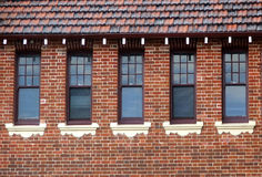 Buildings - windows. Five windows in a row in an old Federation style building royalty free stock photography