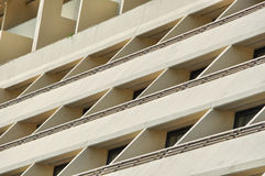 Buildings windows and balconies Stock Image