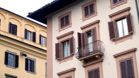 Buildings with windows in Florence Royalty Free Stock Photo
