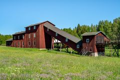 Free Buildings With Shaft From A Very Old Mine In Sweden Royalty Free Stock Image - 129898026