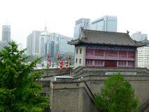 Buildings on The Xi'an Circumvallation Royalty Free Stock Photos