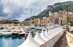 Buildings and Yachts in Monte Carlo,Monaco Royalty Free Stock Photography